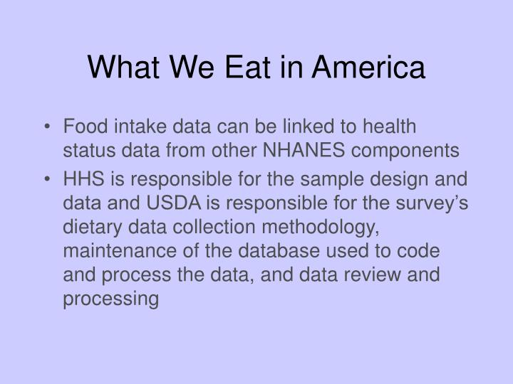 What We Eat in America