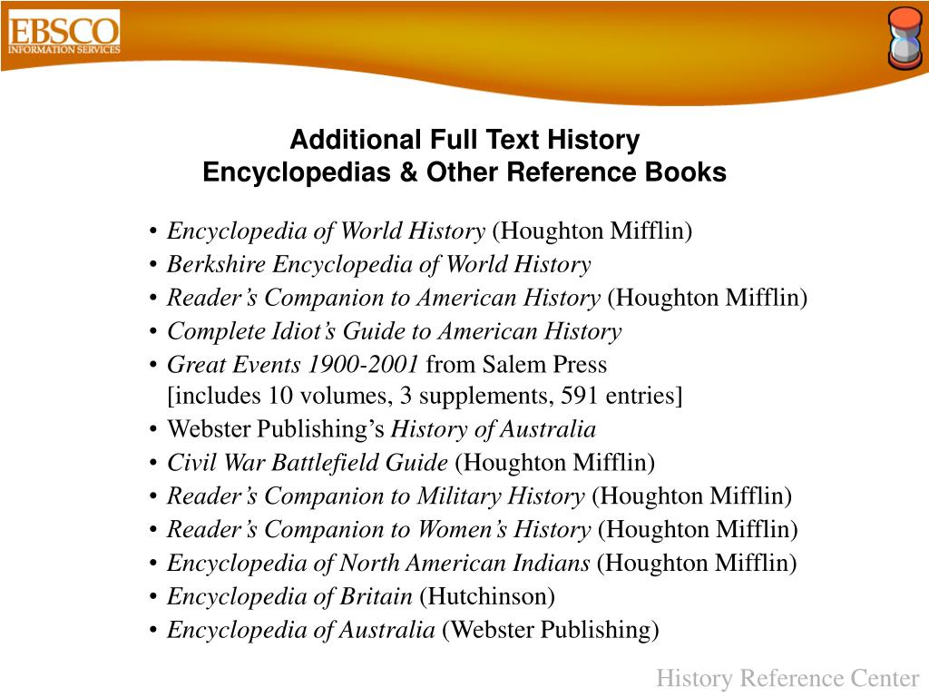 Additional Full Text History