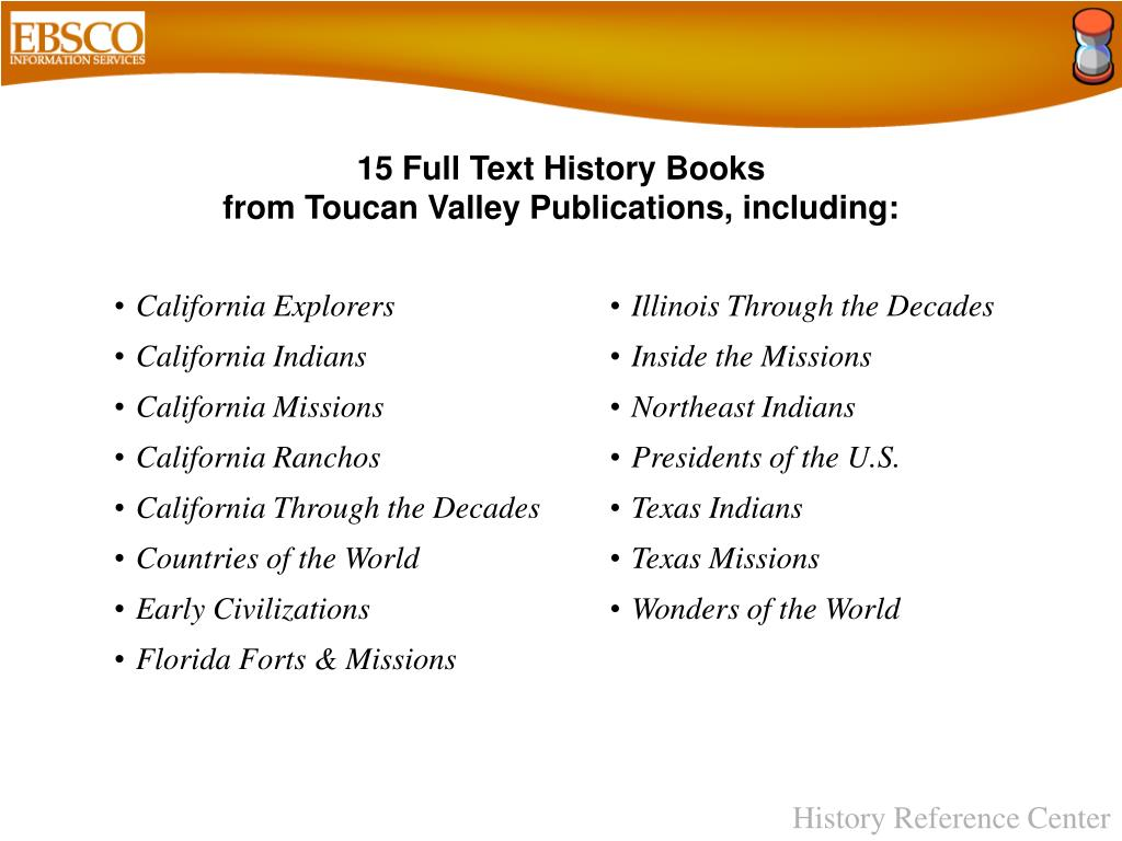 15 Full Text History Books