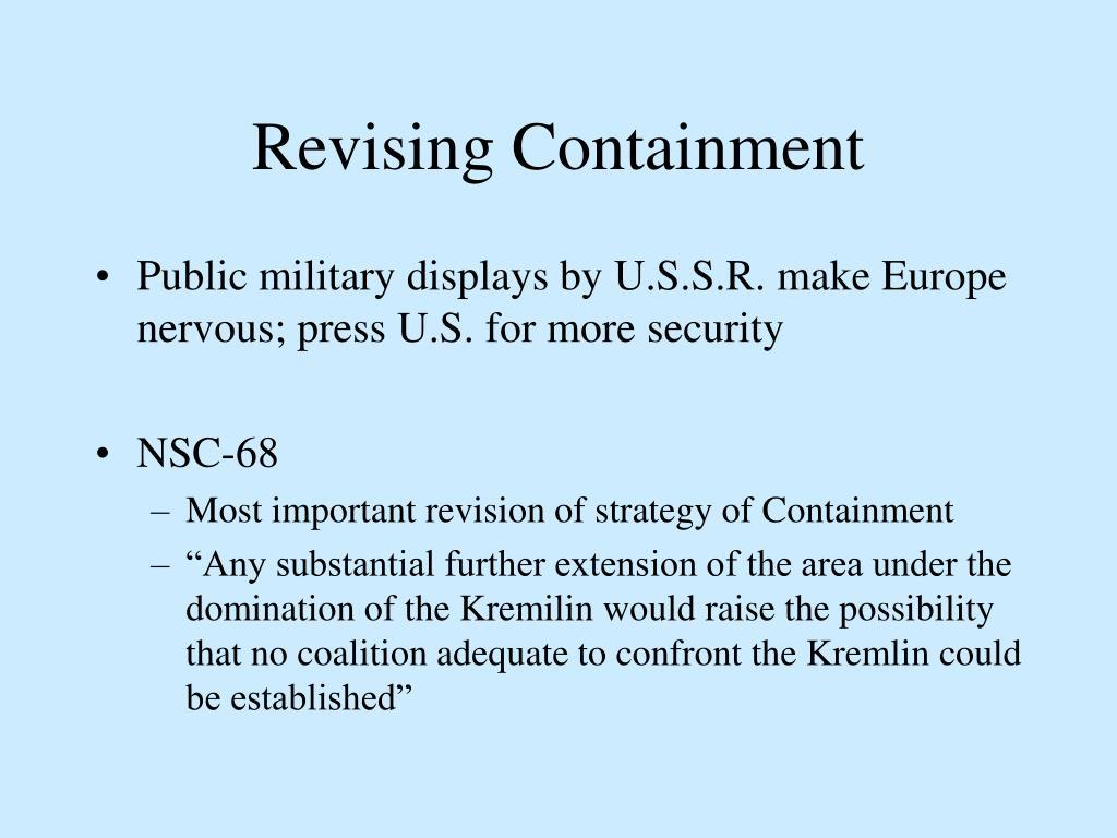 Revising Containment