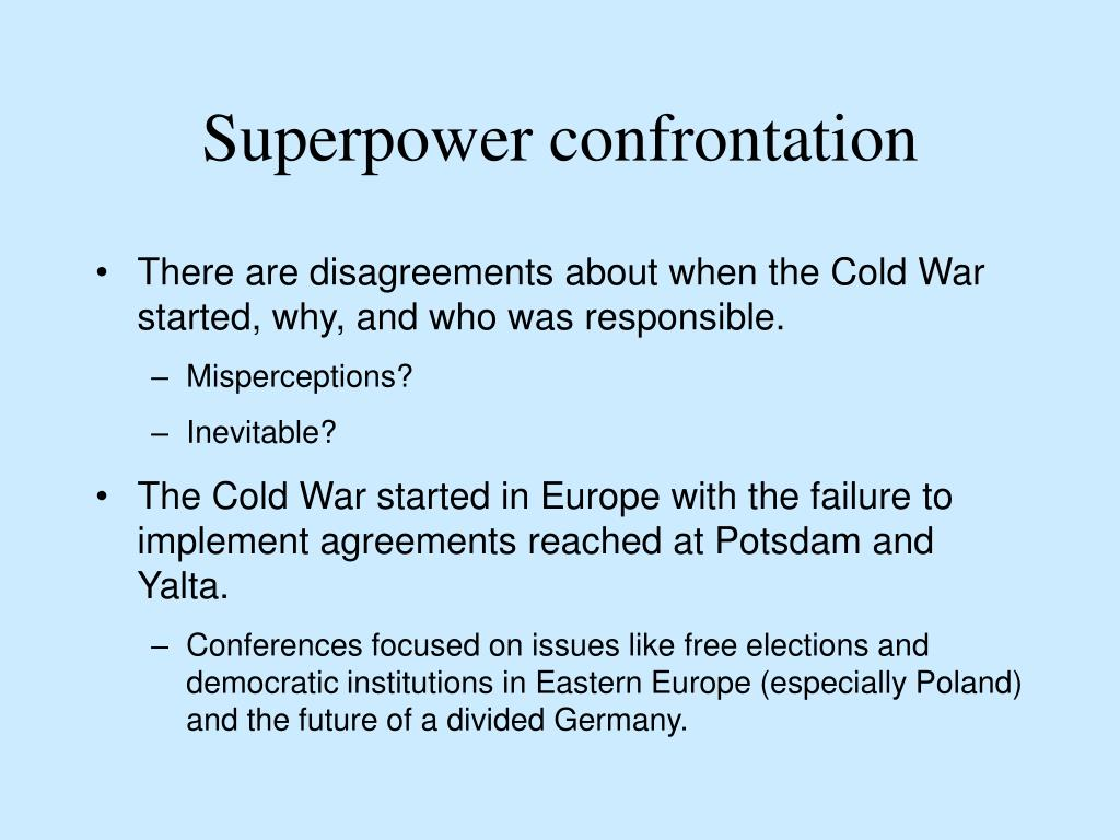 Superpower confrontation
