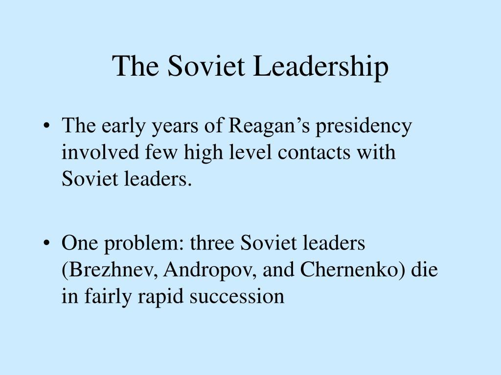 The Soviet Leadership