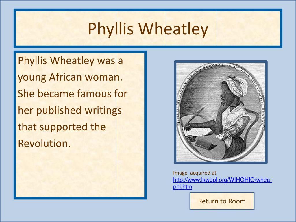 Phyllis Wheatley