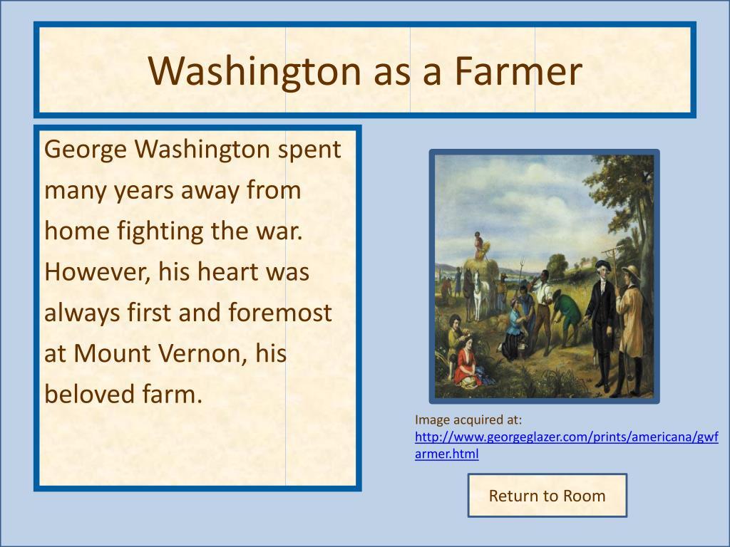 Washington as a Farmer