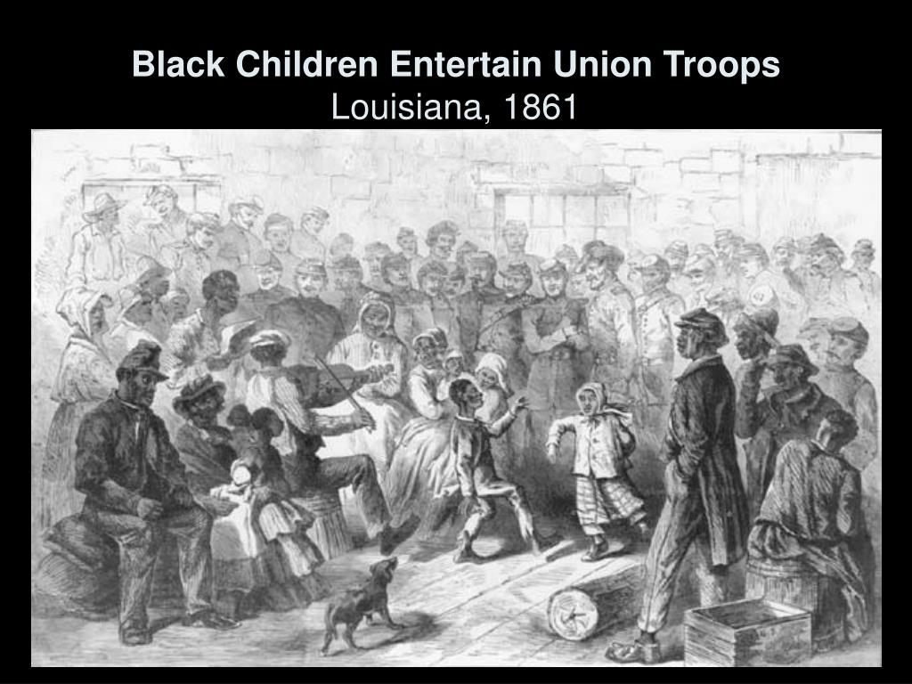 Black Children Entertain Union Troops