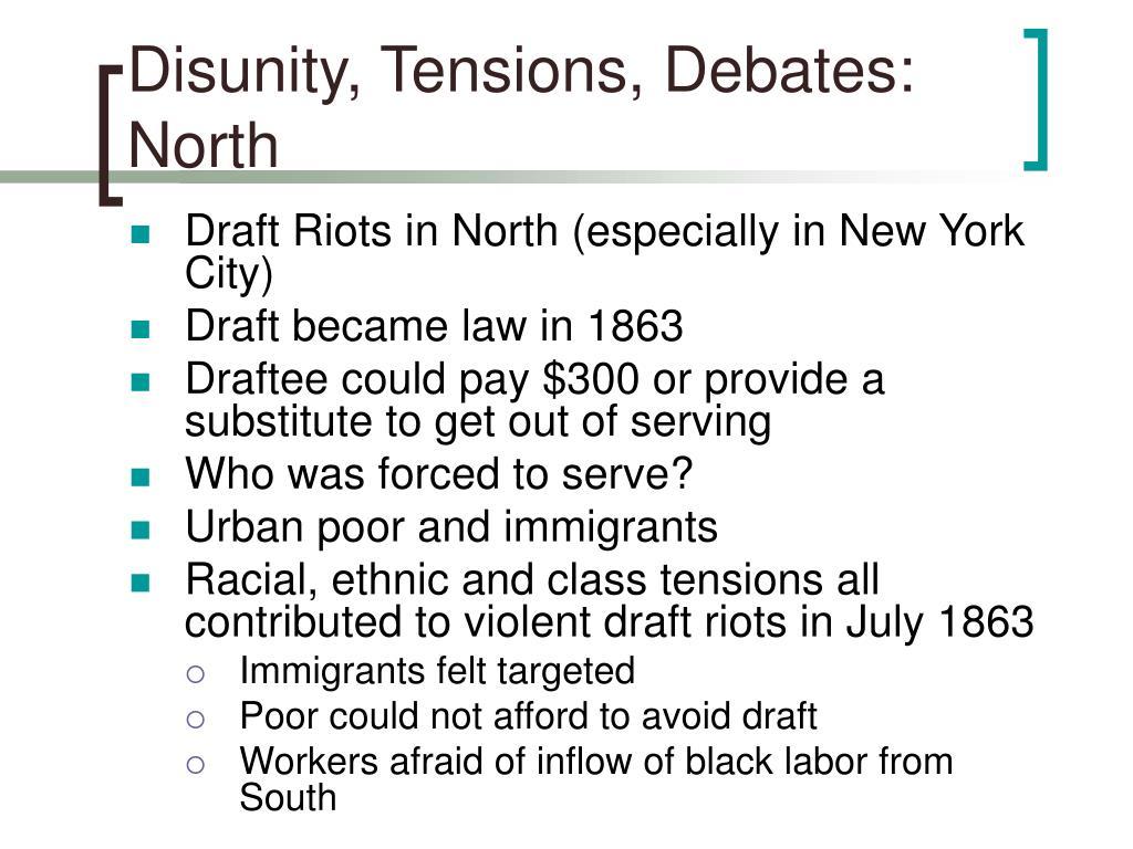 Disunity, Tensions, Debates:
