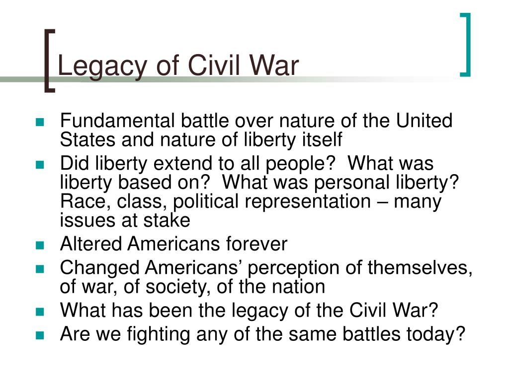 Legacy of Civil War