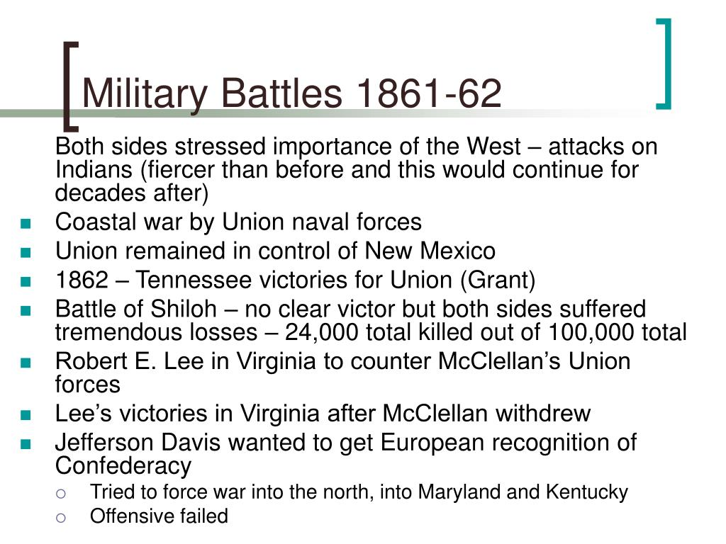 Military Battles 1861-62