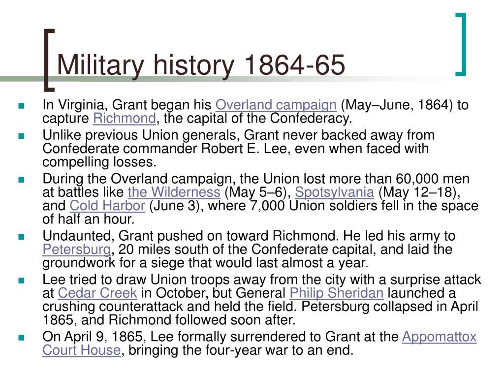 Military history 1864-65