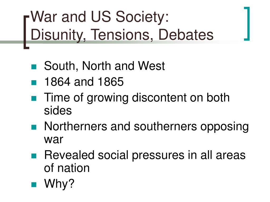 War and US Society:
