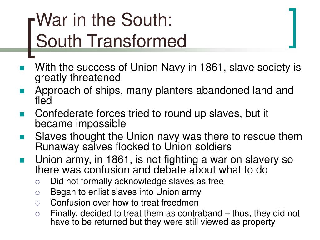 War in the South: