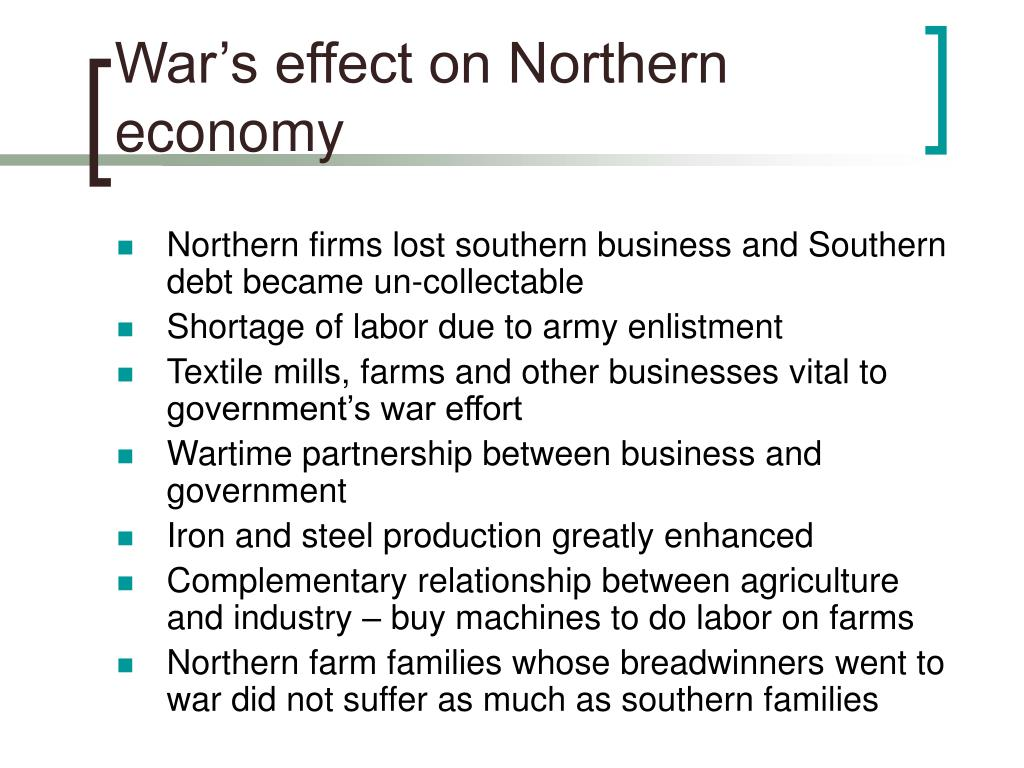 War's effect on Northern economy