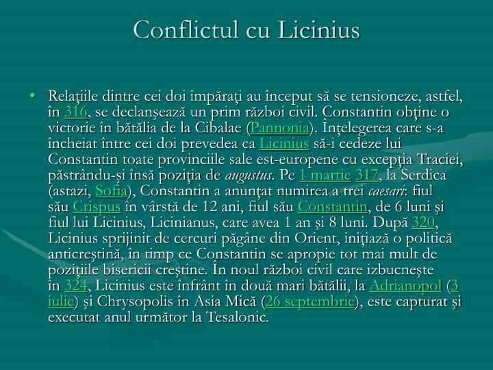 Conflictul cu Licinius
