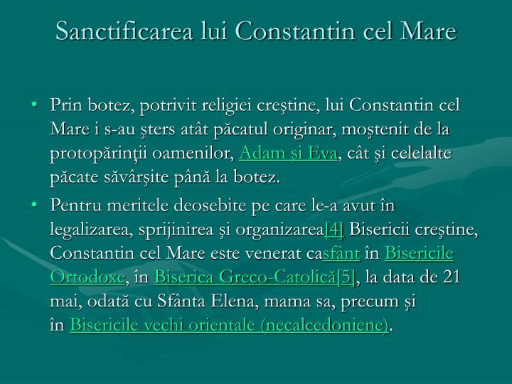 Sanctificarea lui Constantin cel Mare