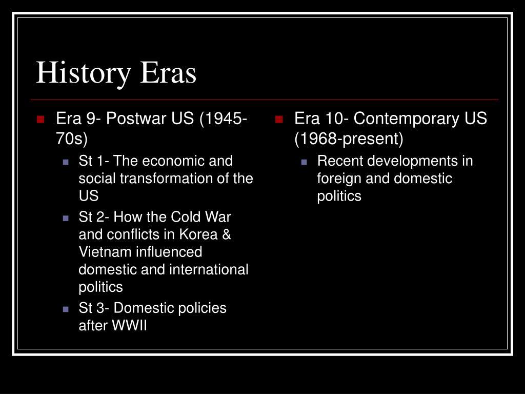 Era 9- Postwar US (1945-70s)