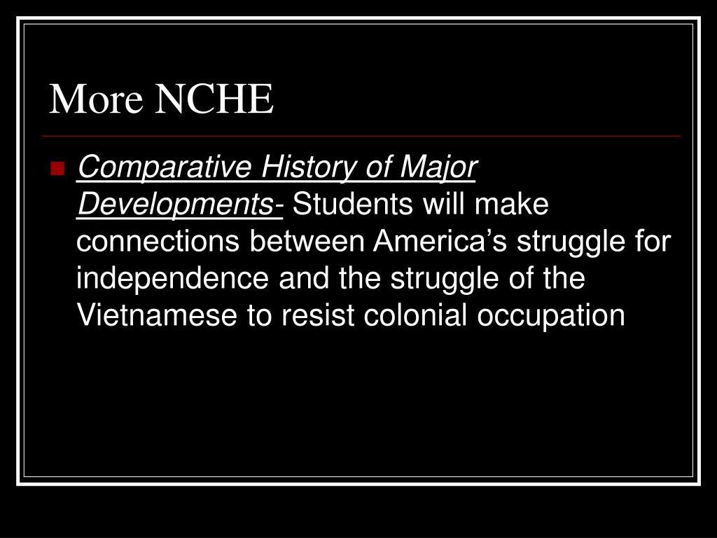 More NCHE