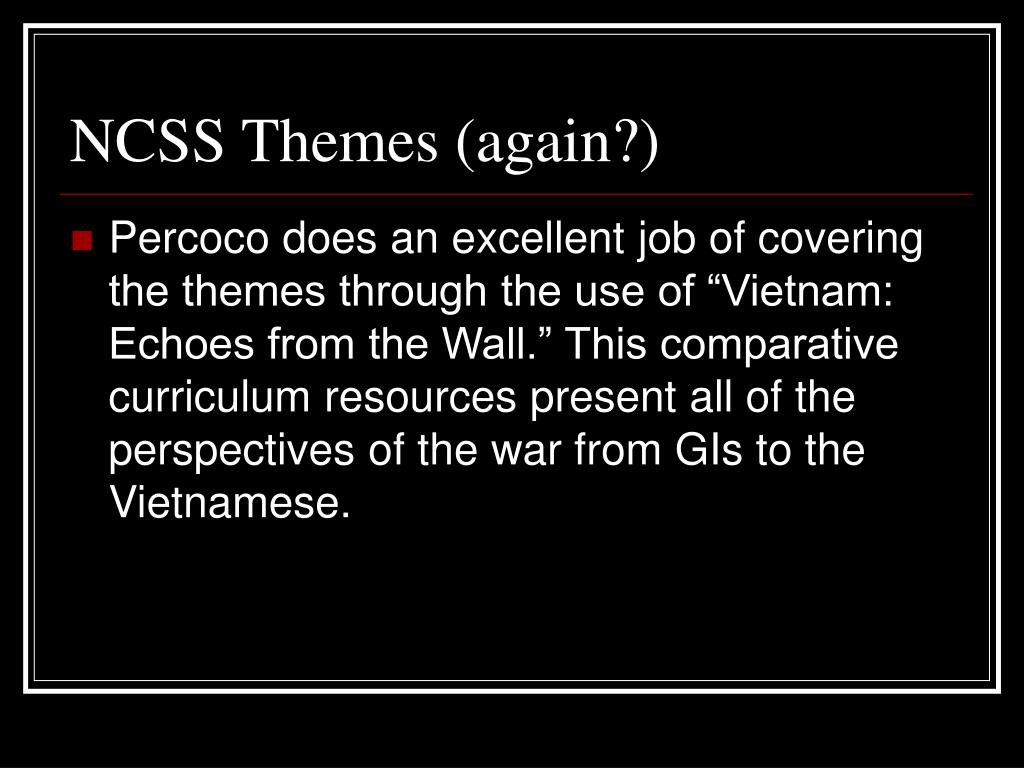 NCSS Themes (again?)