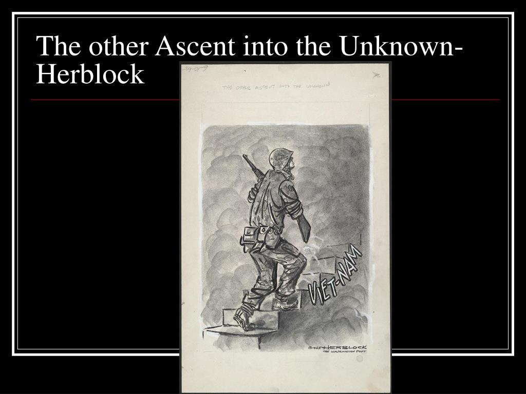 The other Ascent into the Unknown- Herblock