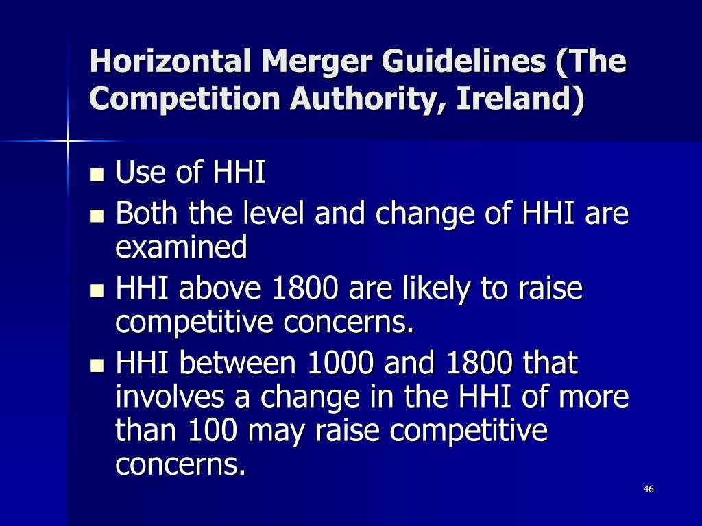 Horizontal Merger Guidelines (The Competition Authority, Ireland)