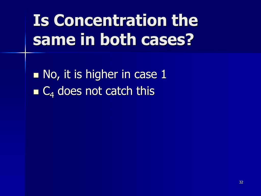 Is Concentration the same in both cases?