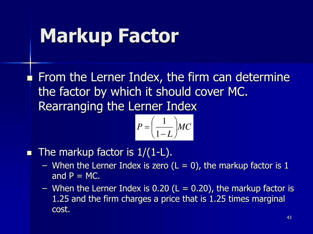 Markup Factor
