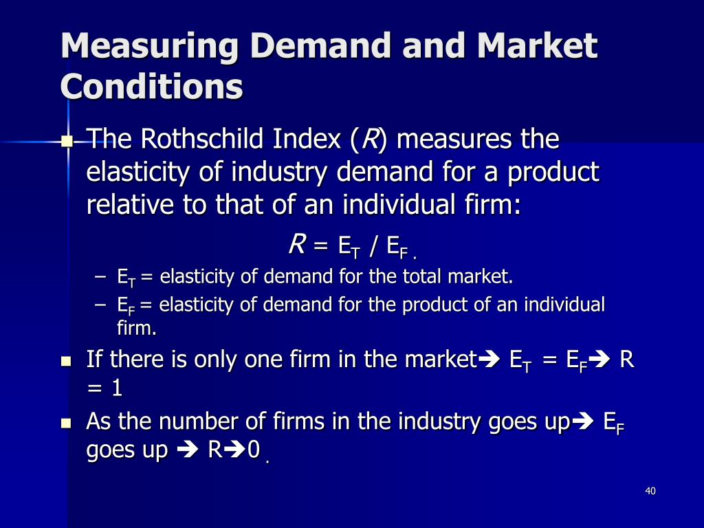 Measuring Demand and Market Conditions