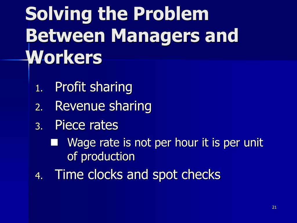 Solving the Problem Between Managers and Workers