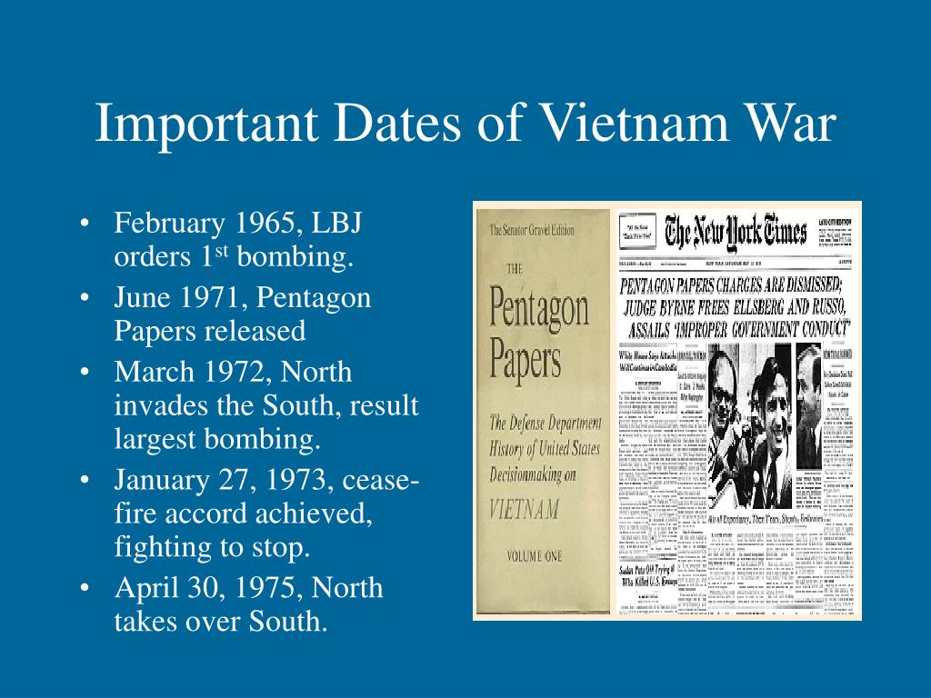 Important Dates of Vietnam War