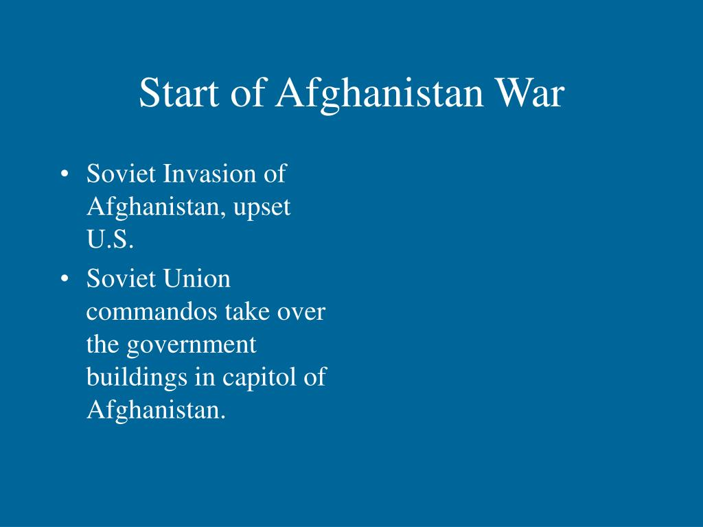 Start of Afghanistan War