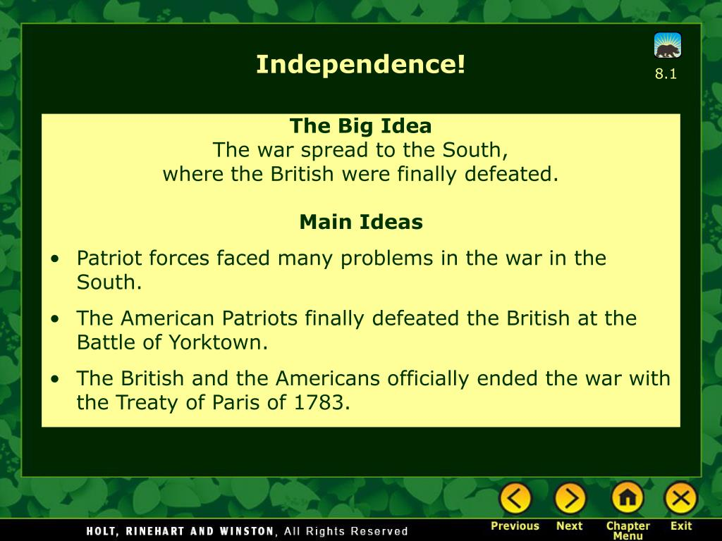 Independence!