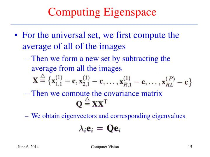 Computing Eigenspace