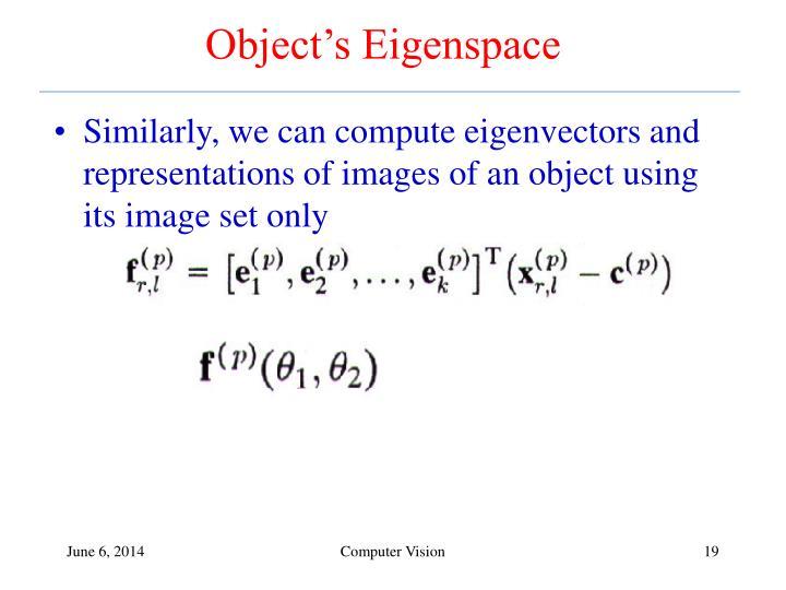 Object's Eigenspace