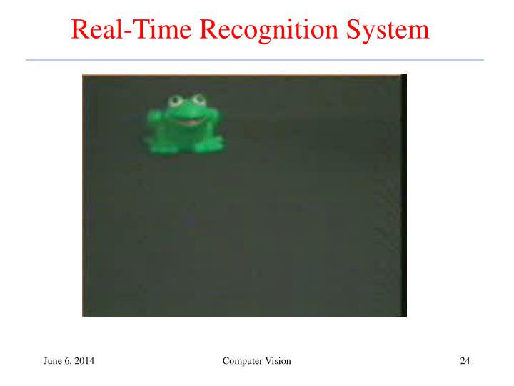 Real-Time Recognition System
