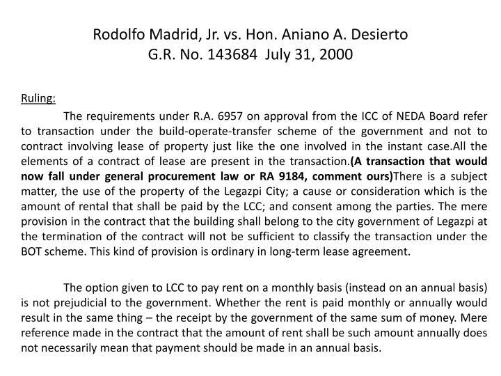 Rodolfo Madrid, Jr. vs. Hon.