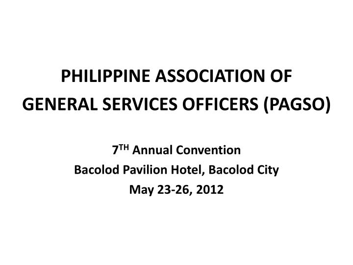 PHILIPPINE ASSOCIATION OF