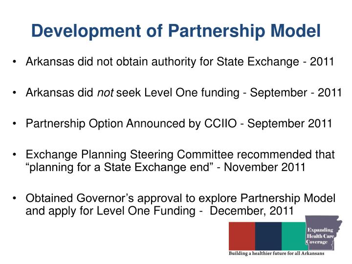 Development of Partnership Model