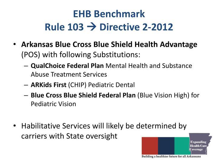 EHB Benchmark