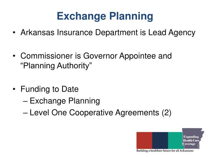 Exchange Planning