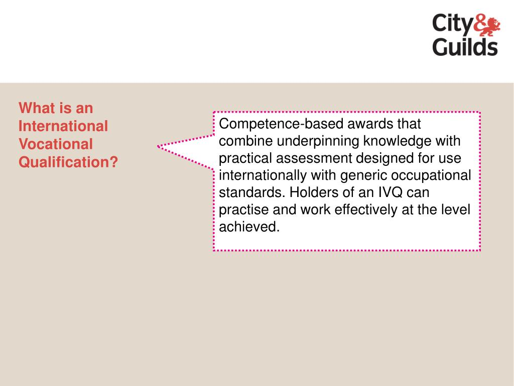 What is an International Vocational Qualification?