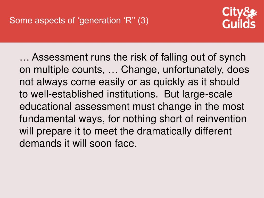 Some aspects of 'generation 'R'' (3)