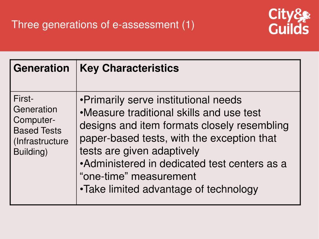 Three generations of e-assessment (1)