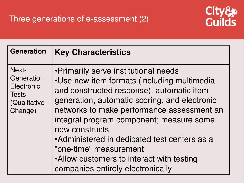 Three generations of e-assessment (2)