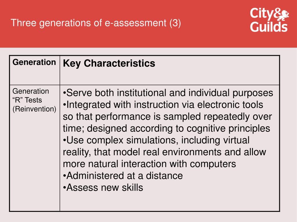 Three generations of e-assessment (3)