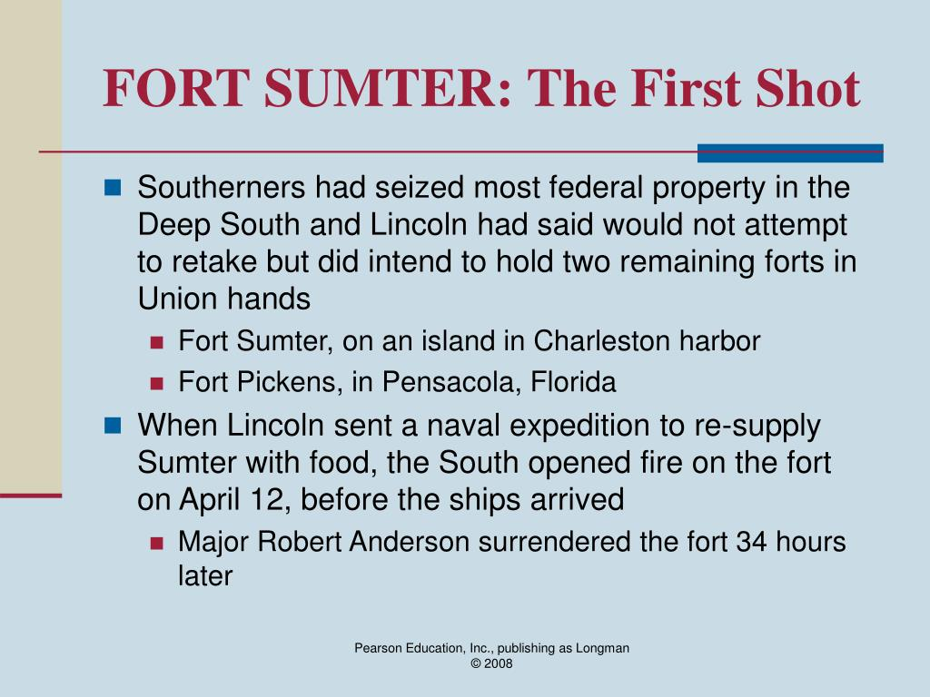 FORT SUMTER: The First Shot