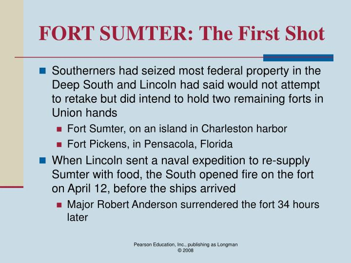 Fort sumter the first shot