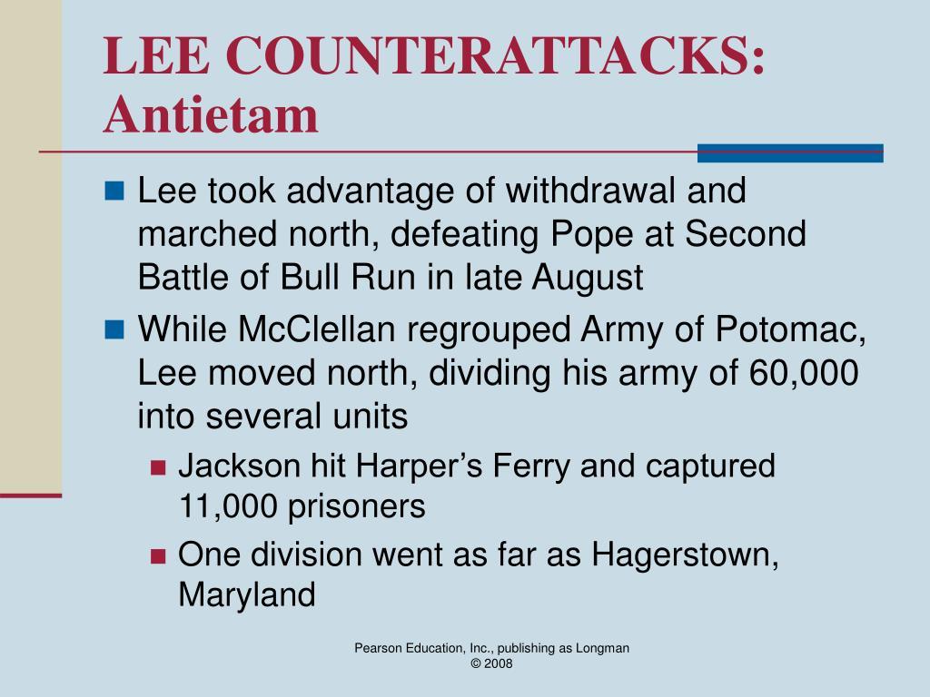 LEE COUNTERATTACKS: Antietam