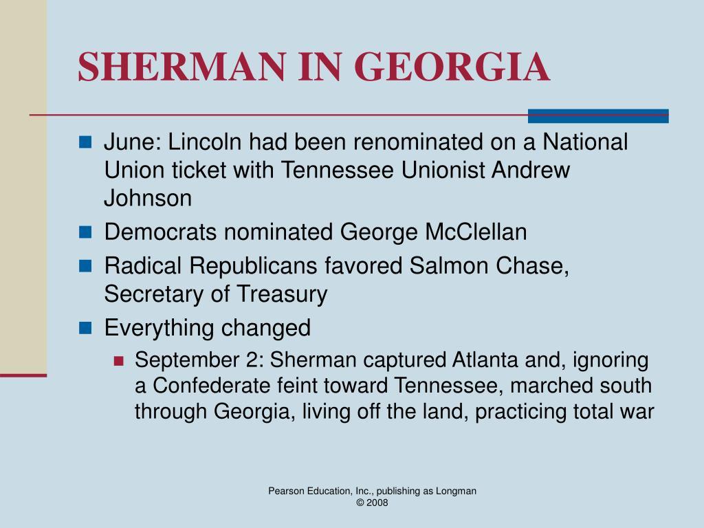 SHERMAN IN GEORGIA