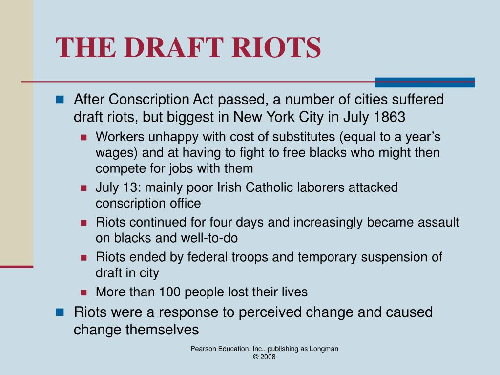 THE DRAFT RIOTS