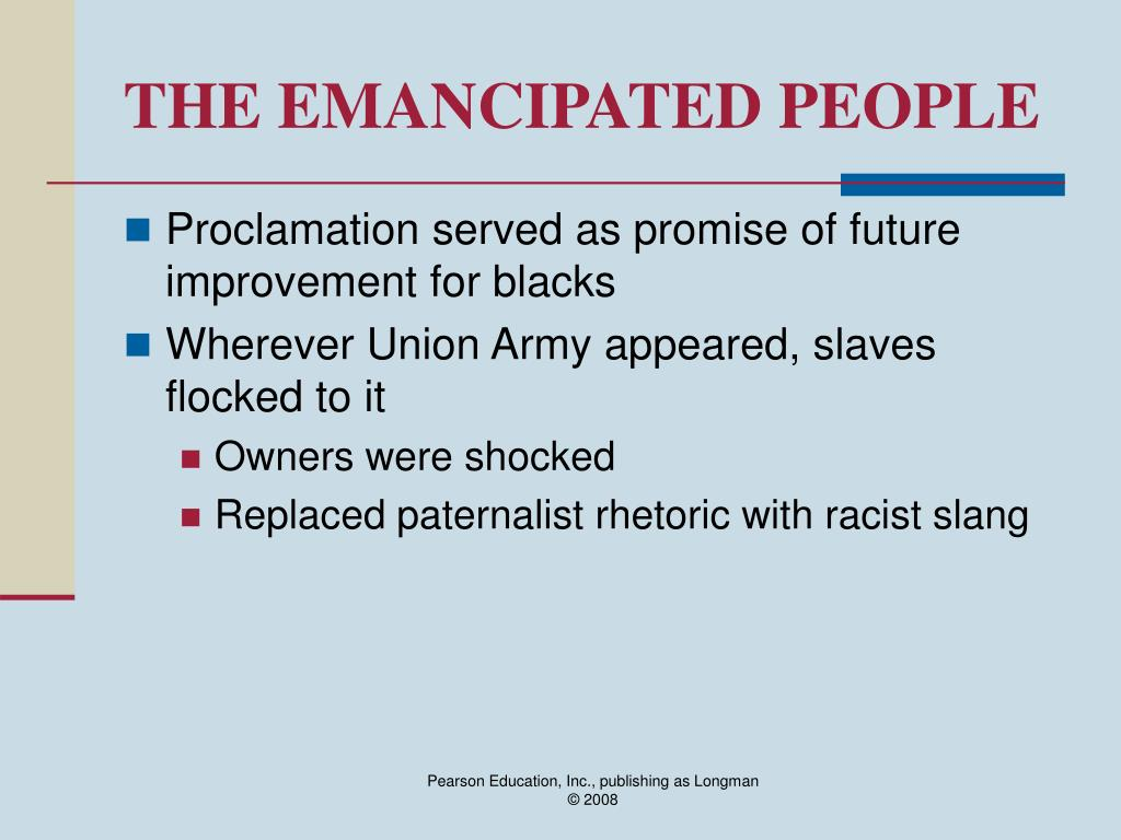 THE EMANCIPATED PEOPLE