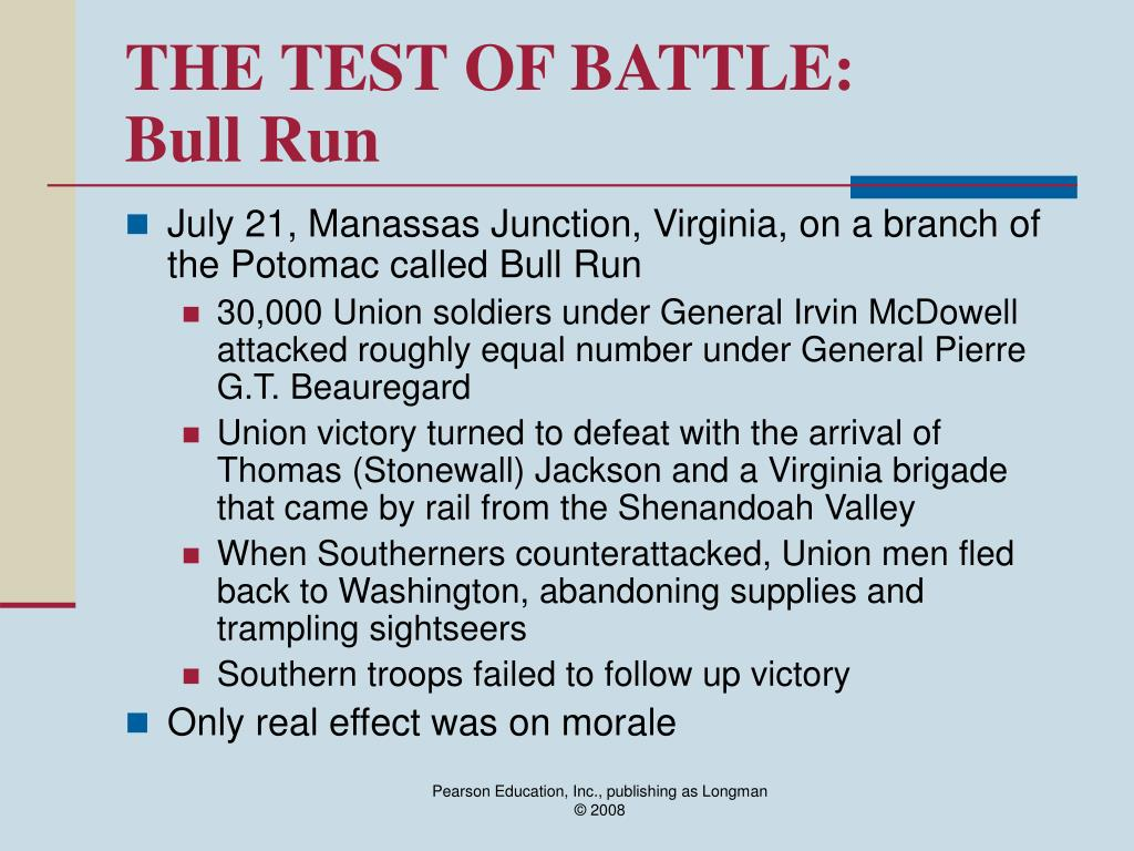 THE TEST OF BATTLE:
